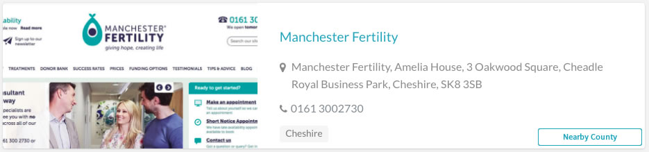 Manchester Fertility Clinic Listing
