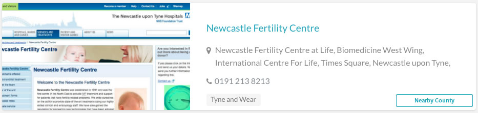 Newcastle Fertility Centre Clinic Listing